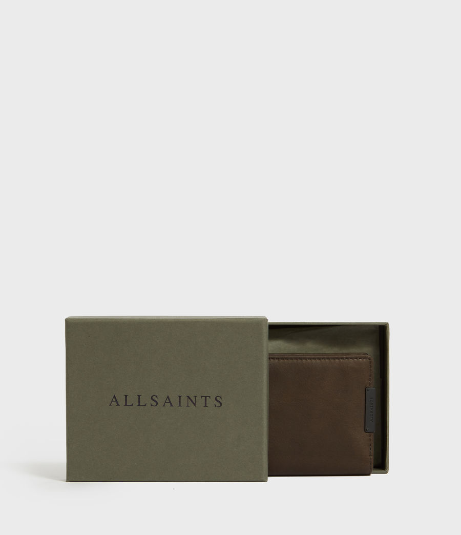 Mens State Leather Wallet (dark_khaki_green) - Image 5