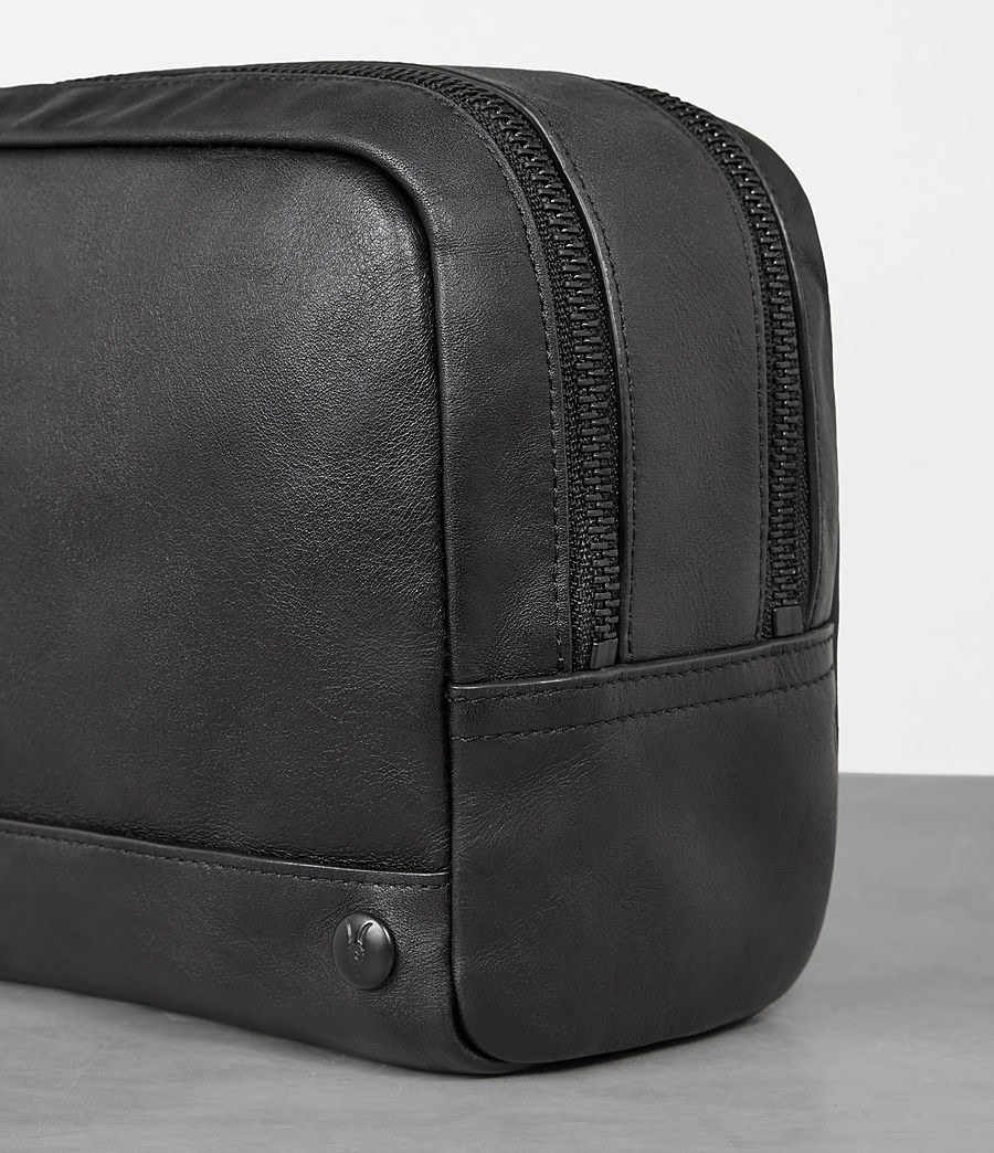 Mens Retract Wash Bag (black) - Image 2