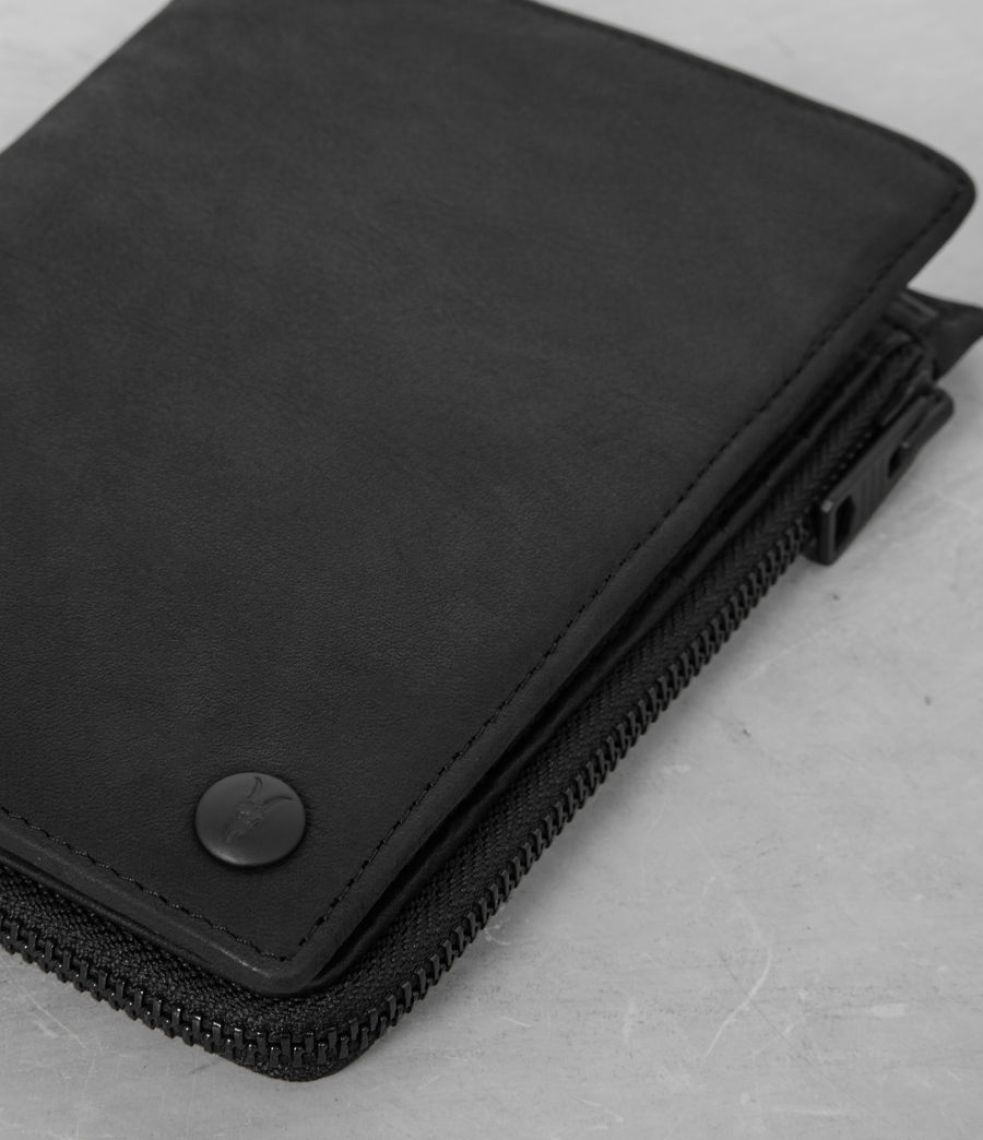 Mens Roam Leather Travel Wallet (black) - Image 2