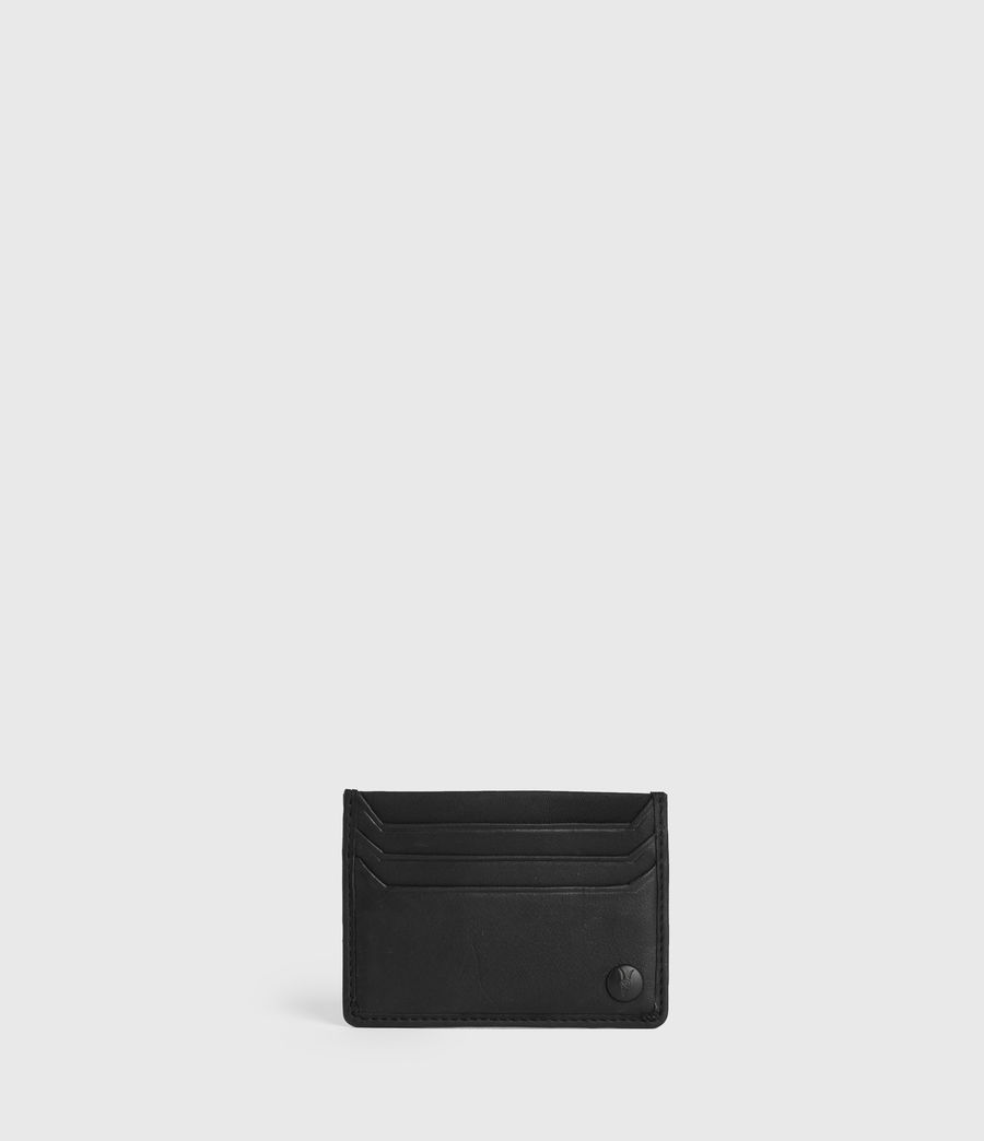 Men's Shard Leather Cardholder (black) - Image 1