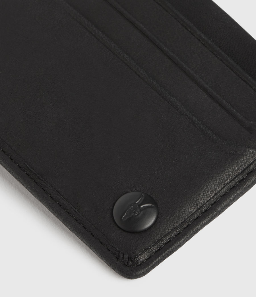 Men's Shard Leather Cardholder (black) - Image 2