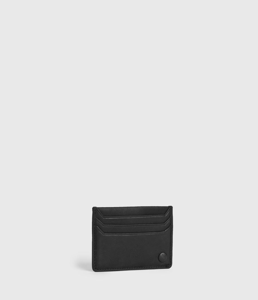 Men's Shard Leather Cardholder (black) - Image 3