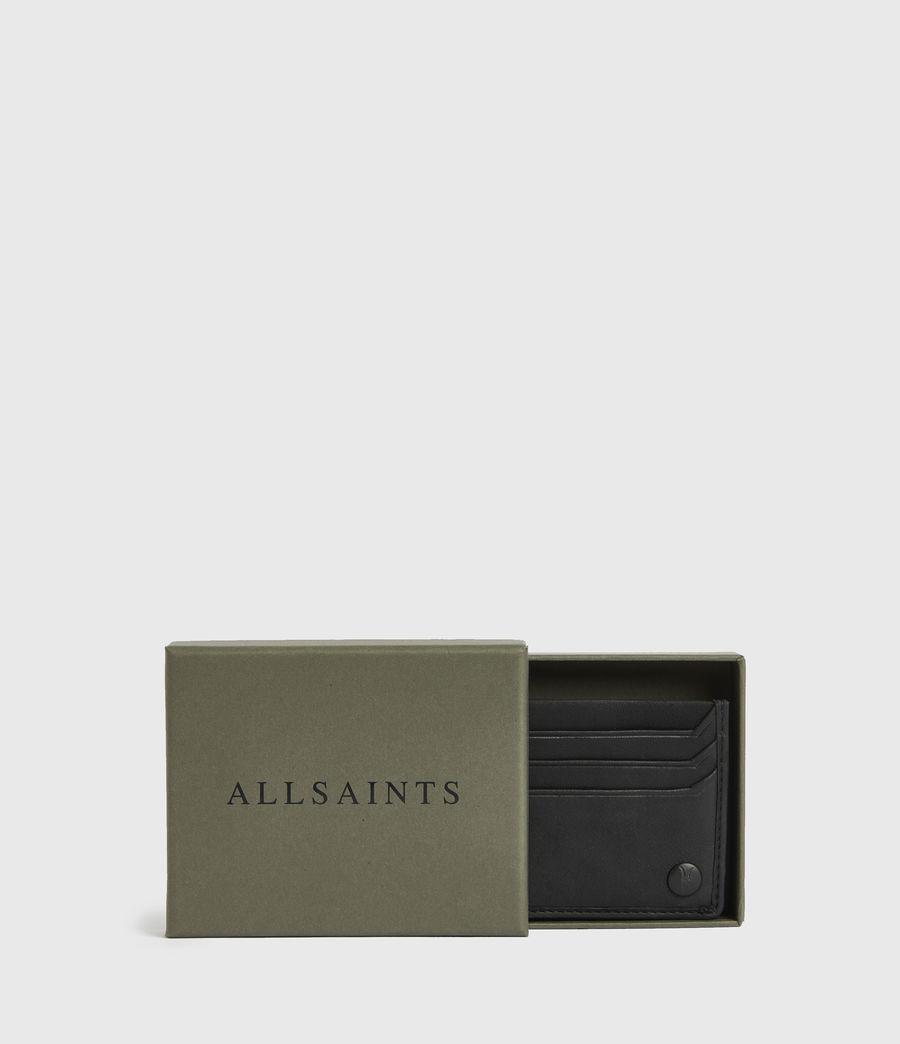 Men's Shard Leather Cardholder (black) - Image 5
