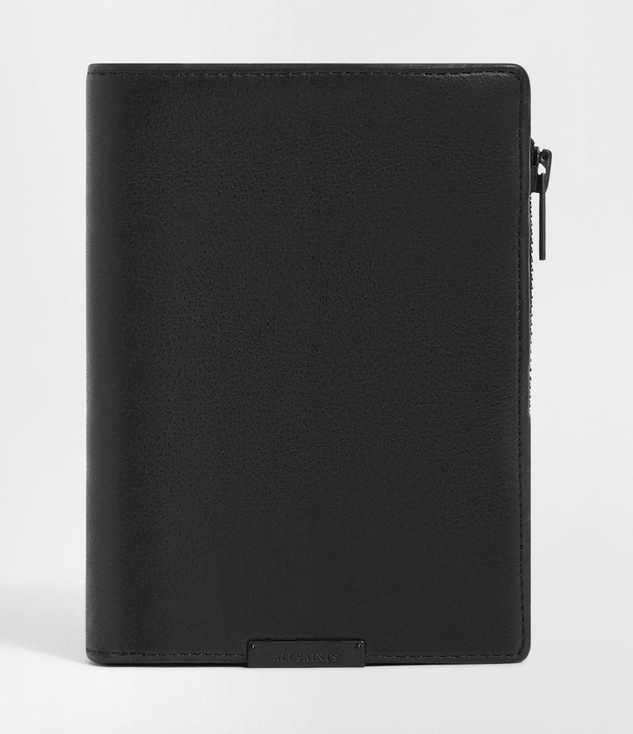 Men's Roam Leather Travel Wallet (washed_black) - Image 1