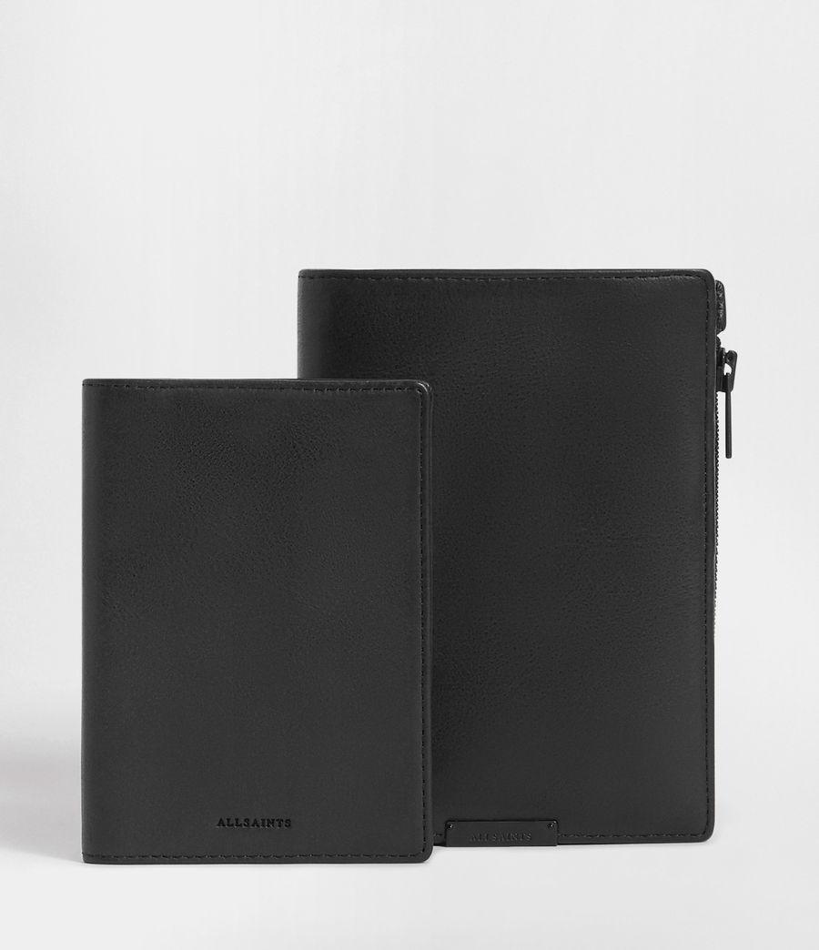 Men's Roam Leather Travel Wallet (washed_black) - Image 3