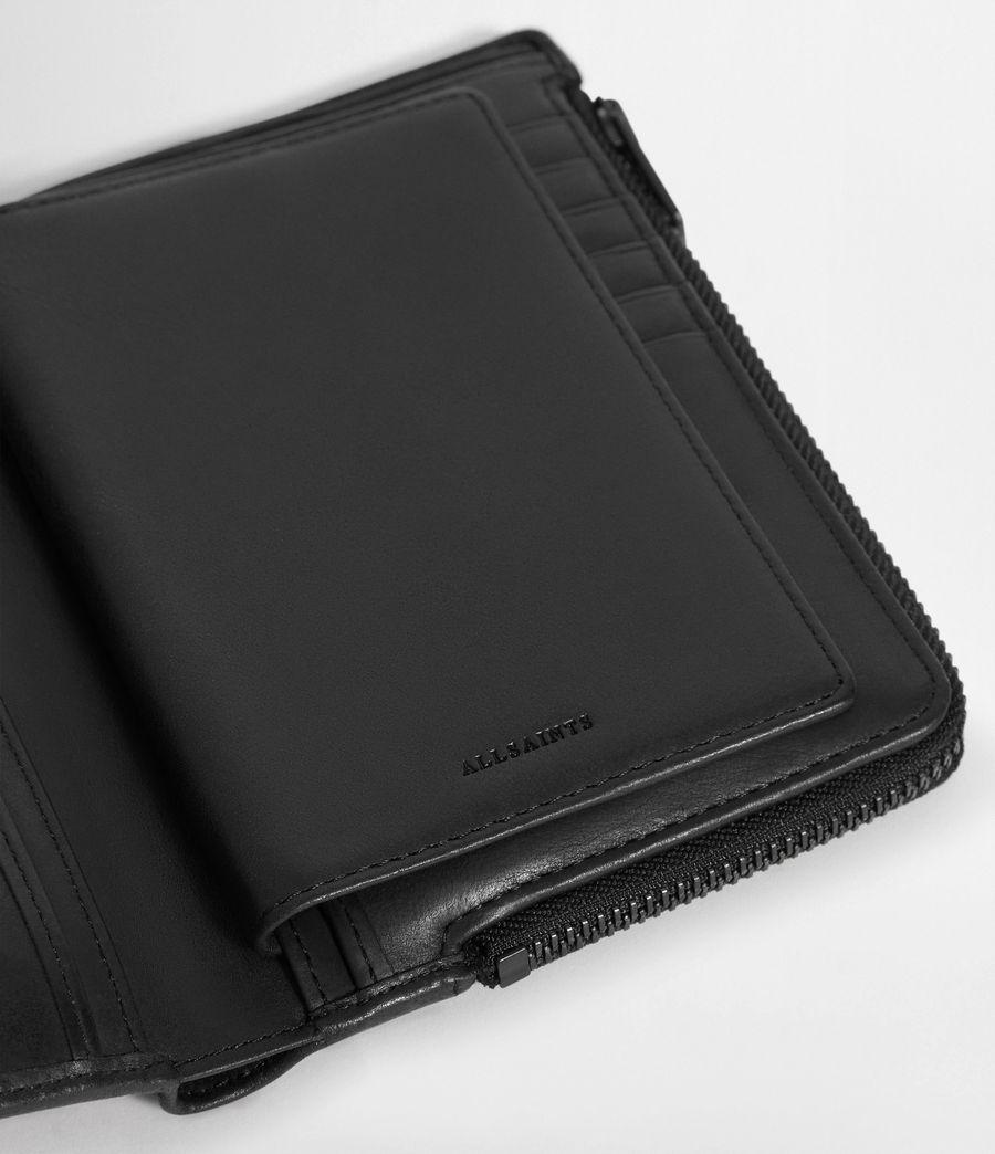 Men's Roam Leather Travel Wallet (washed_black) - Image 4