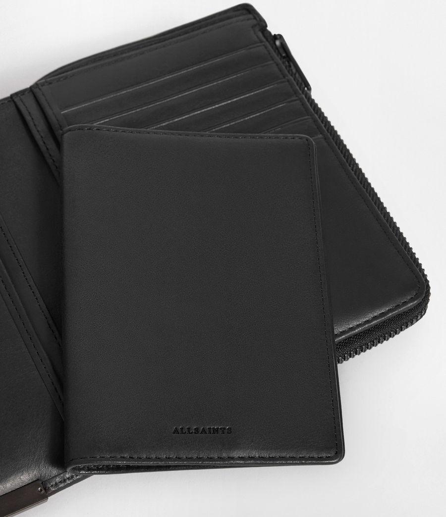 Men's Roam Leather Travel Wallet (washed_black) - Image 6