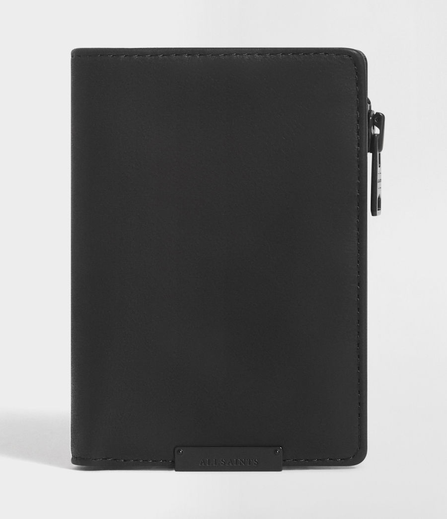 Hombre Mast Leather Zip Wallet (black) - Image 1