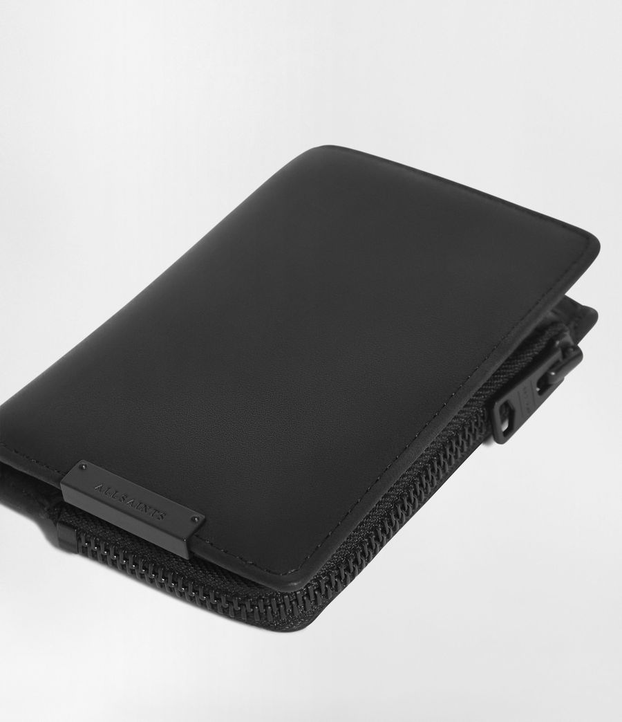 Hombre Mast Leather Zip Wallet (black) - Image 2