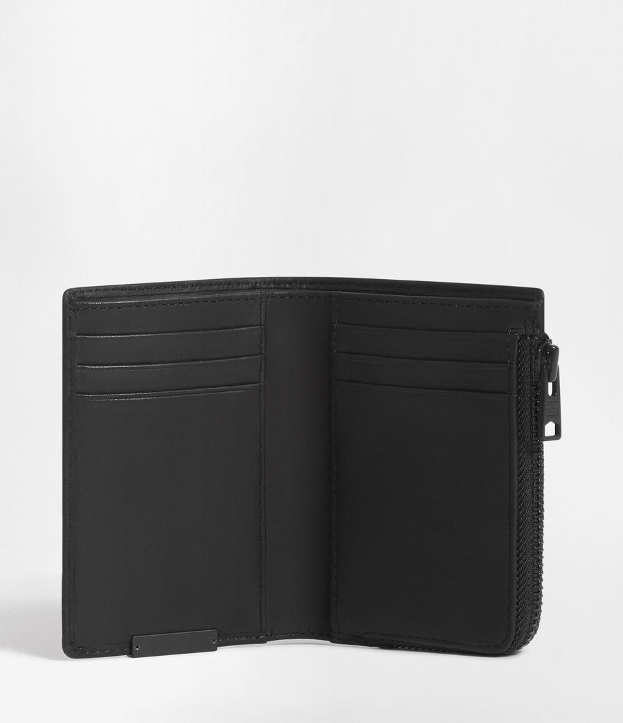 Hombre Mast Leather Zip Wallet (black) - Image 3