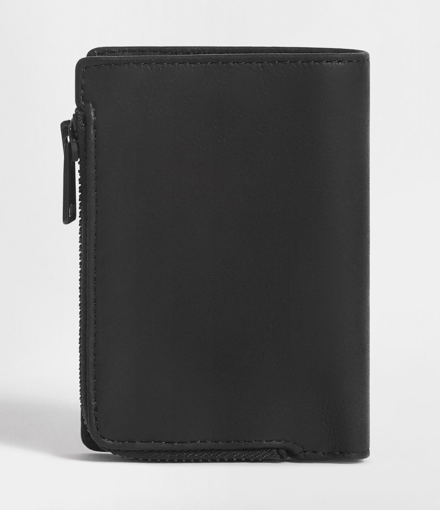 Hombre Mast Leather Zip Wallet (black) - Image 4