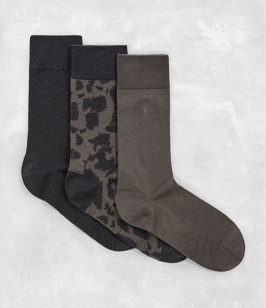 Men's Montauld Sock 3 Pack (khaki_cinder) - Image 1