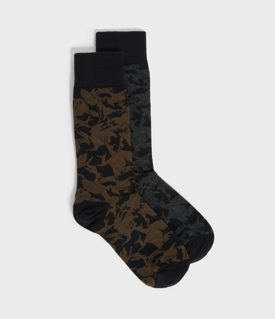 Men's Camo Ramskull 2 Pack Socks (black_ink) - Image 1