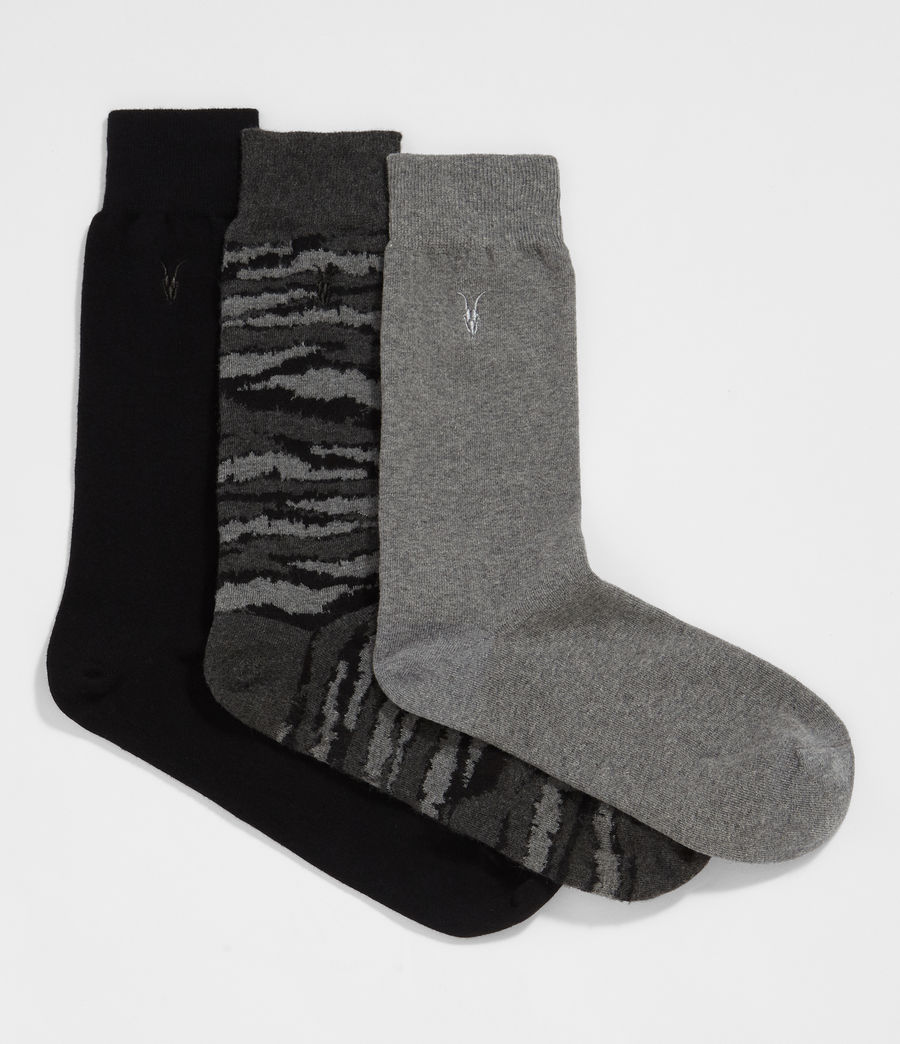 Men's Camo Ramskull 3 Pack Socks (cinder_black_marl) - Image 1