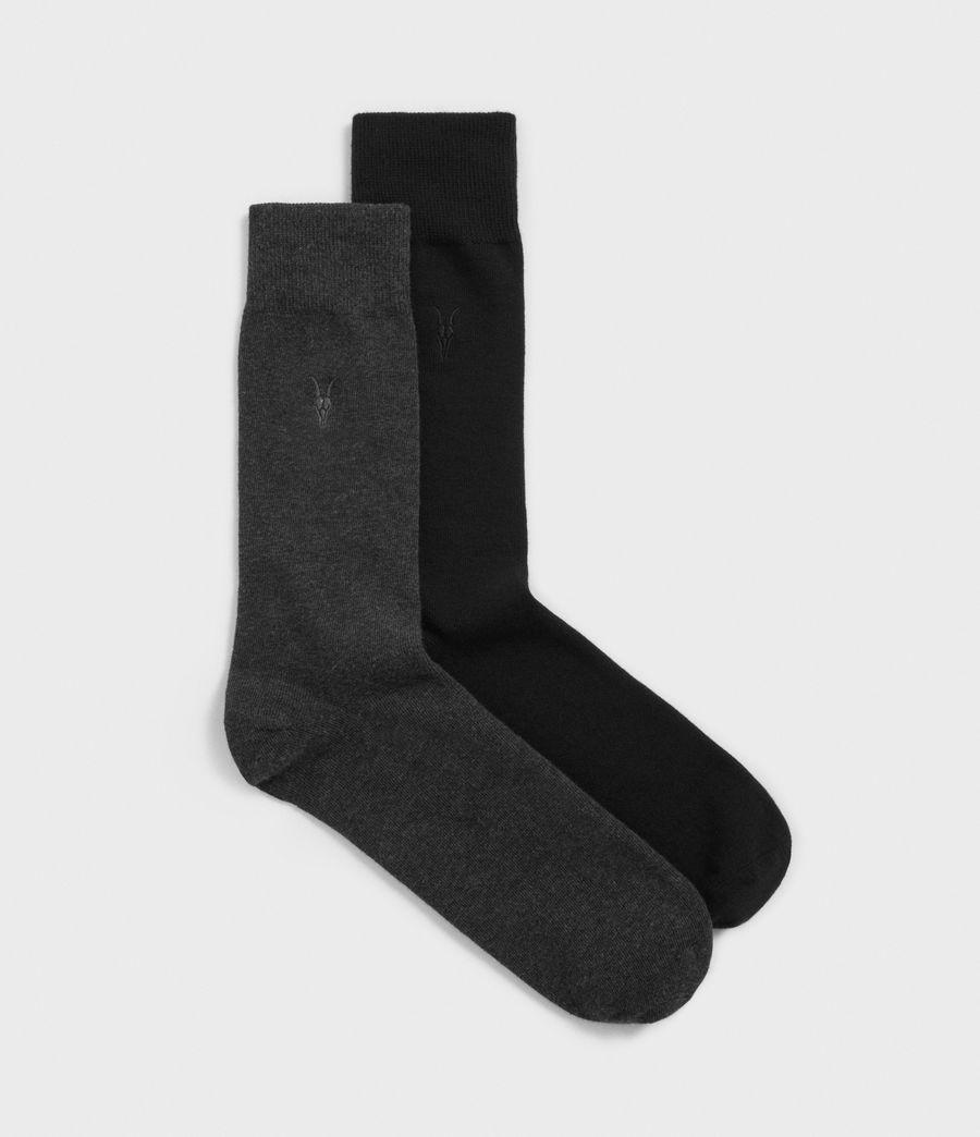 Hommes Pack de 2 Paires de Chaussettes Solid Ramskull (black) - Image 1