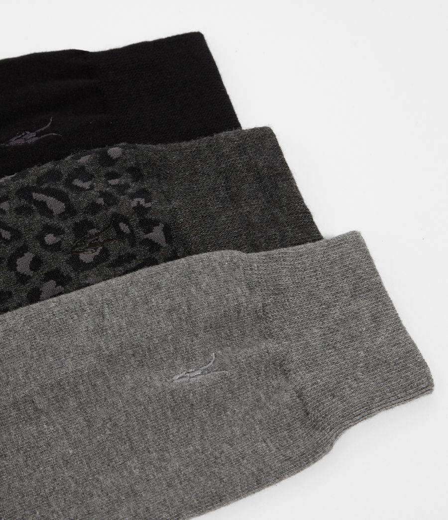 Men's Leopard Ramskull 3 Pack Socks (cinder_black_marl) - Image 2