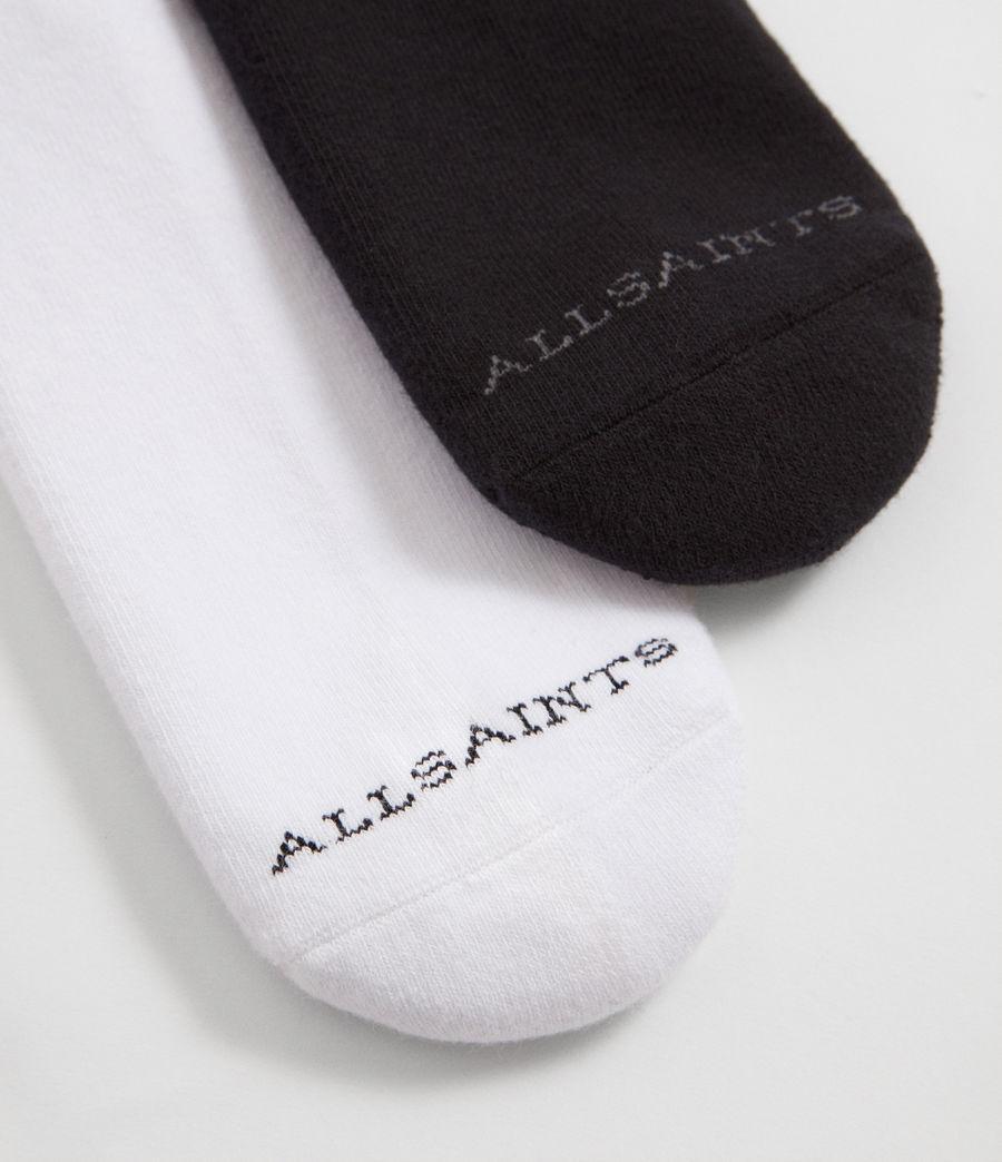 Mens Stripe Sport Sock 2 Pack (black) - Image 3