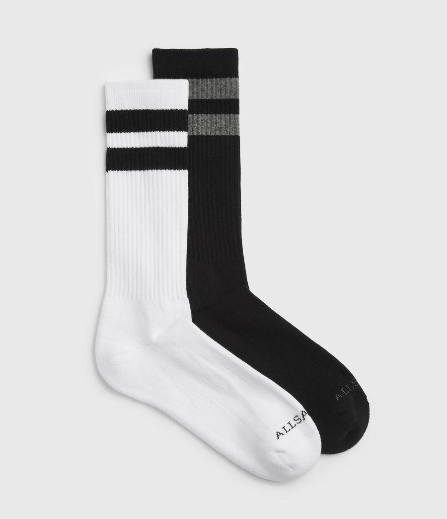 Hommes Stripe Sport Sock 2 Pack (black) - Image 1