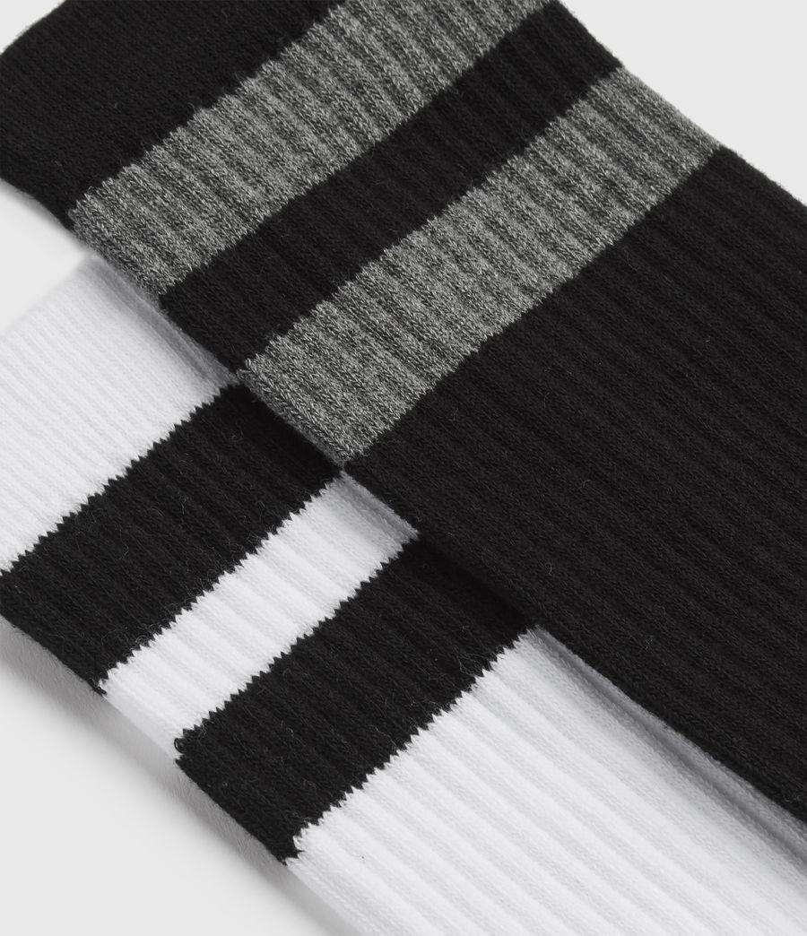 Hommes Stripe Sport Sock 2 Pack (black) - Image 2