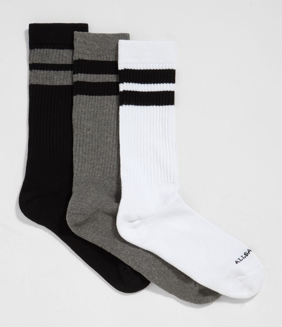 Mens Sport 3 Pack Socks (multi) - Image 3