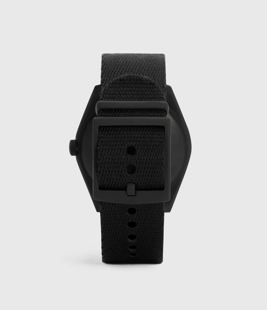 Mens Untitled I Matte Black Stainless Steel and Black Nylon Watch (black) - Image 4