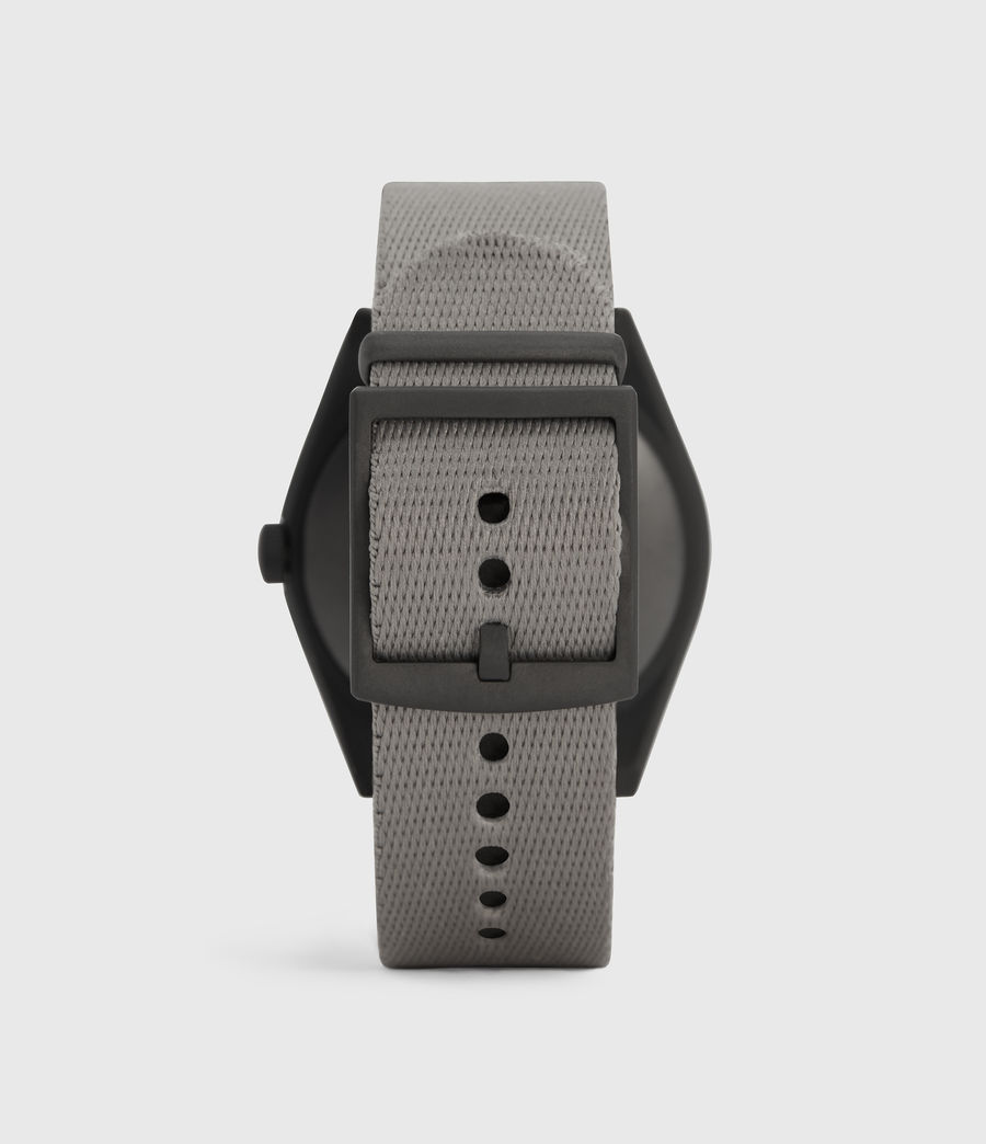 Mens Untitled II Gunmetal Stainless Steel and Grey Nylon Watch (grey) - Image 4