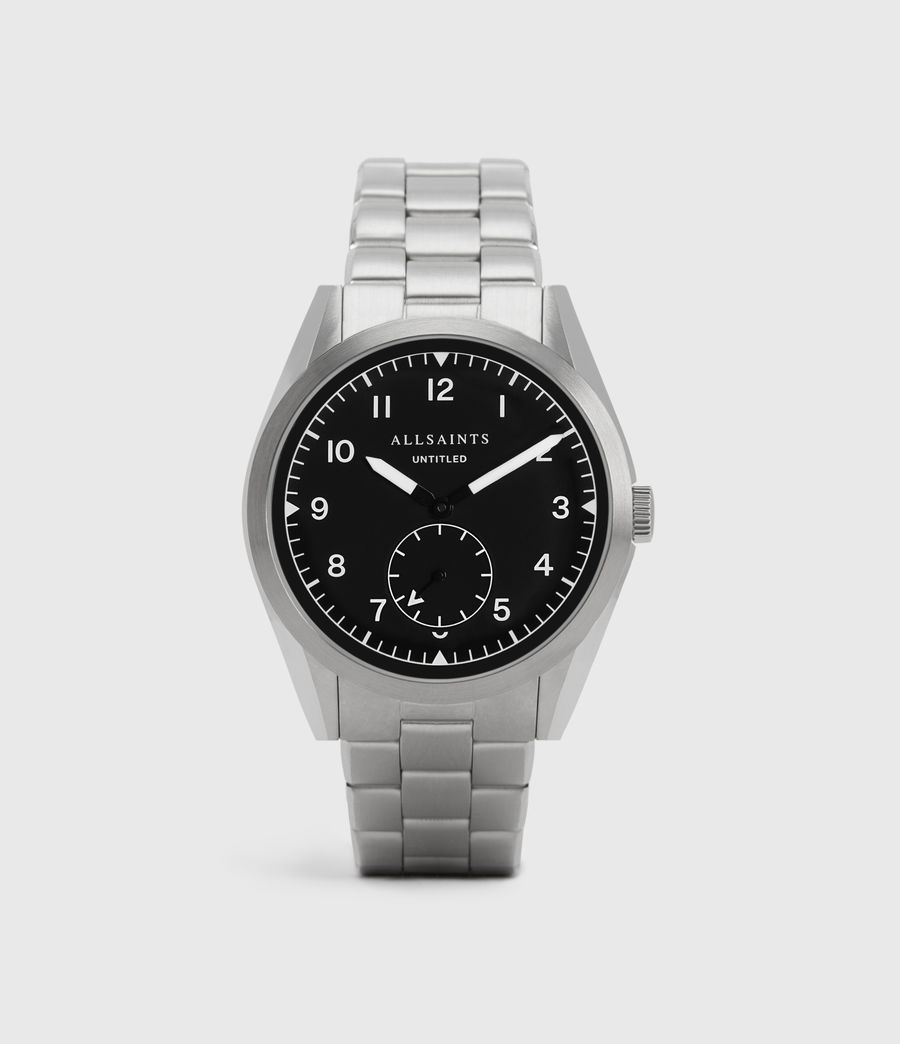 Mens Untitled V Stainless Steel Watch (silver) - Image 1