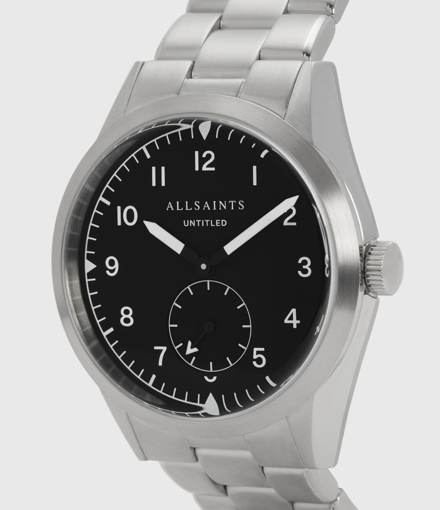 Mens Untitled V Stainless Steel Watch (silver) - Image 2