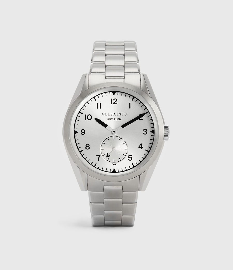 Mens Untitled VI Stainless Steel Watch (silver) - Image 1