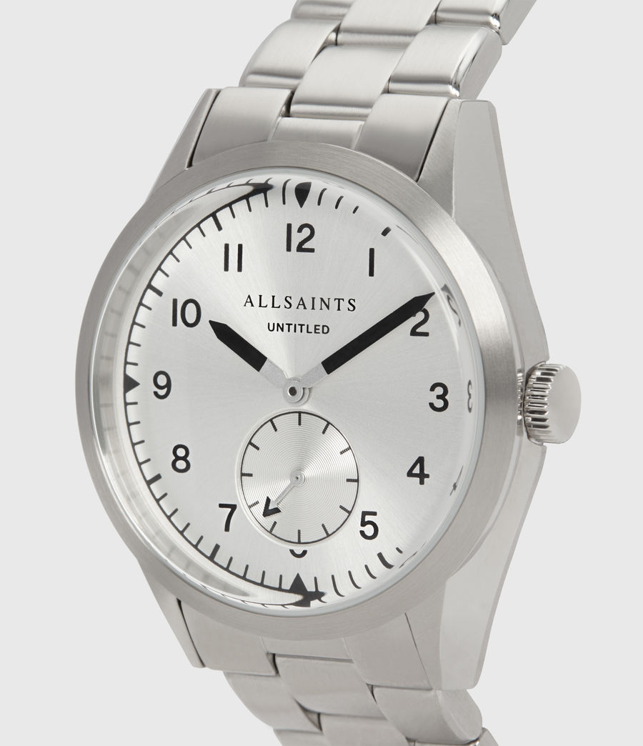 Mens Untitled VI Stainless Steel Watch (silver) - Image 2
