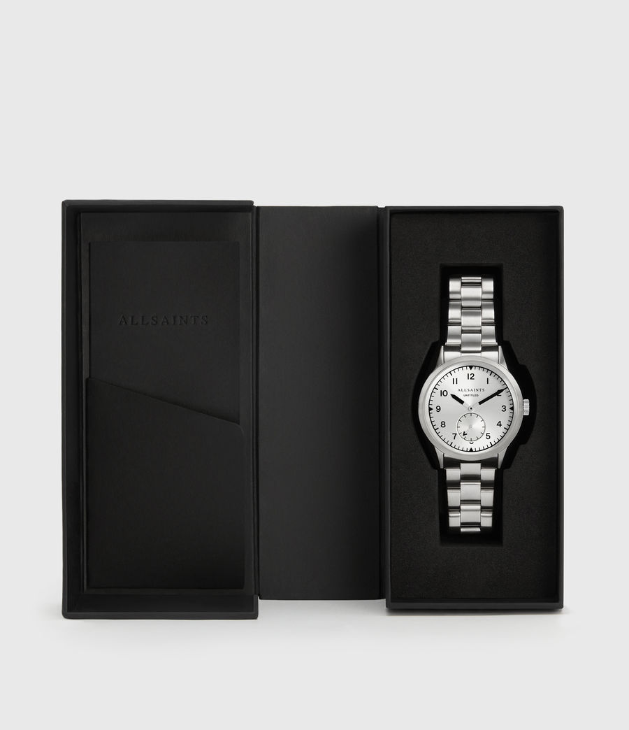 Mens Untitled VI Stainless Steel Watch (silver) - Image 4