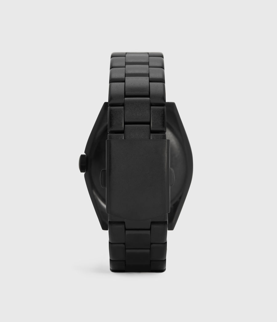 Men's Subtitled GMT V Matte Black Stainless steel Watch (black) - Image 4