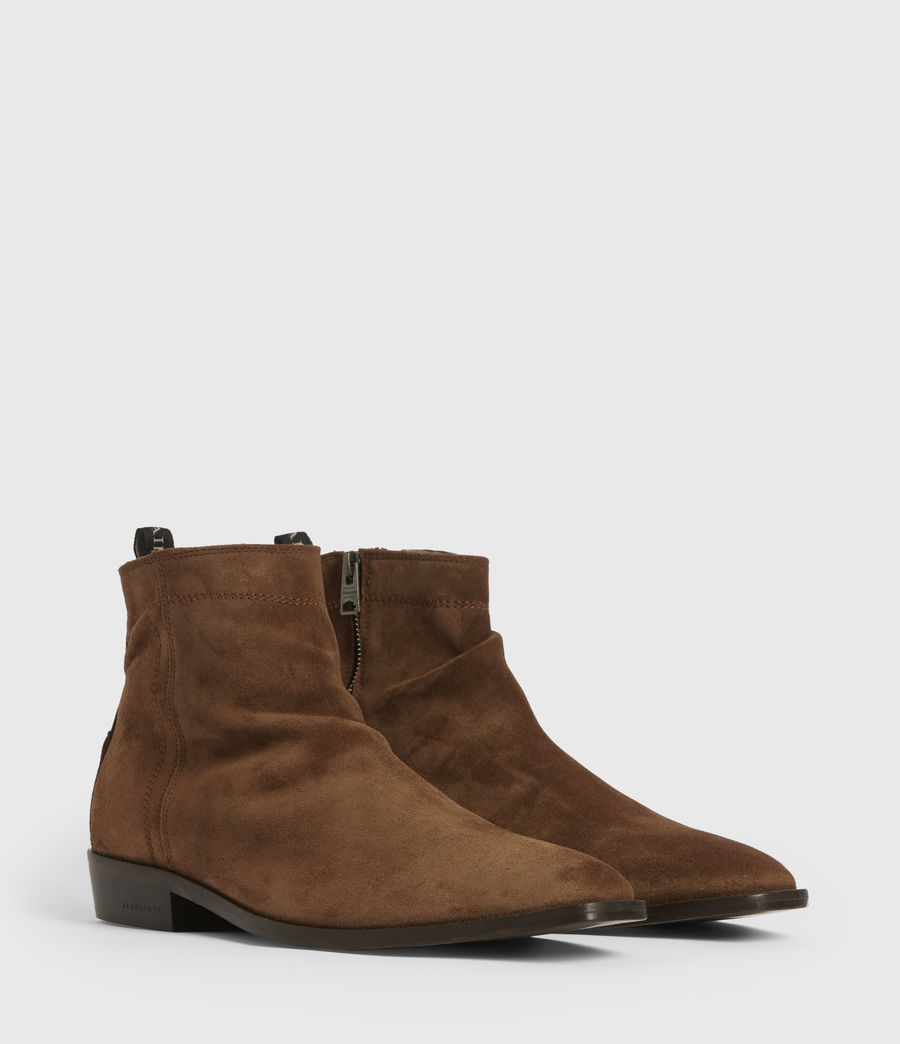 Mens Harris Suede Boots (tobacco_brown) - Image 3