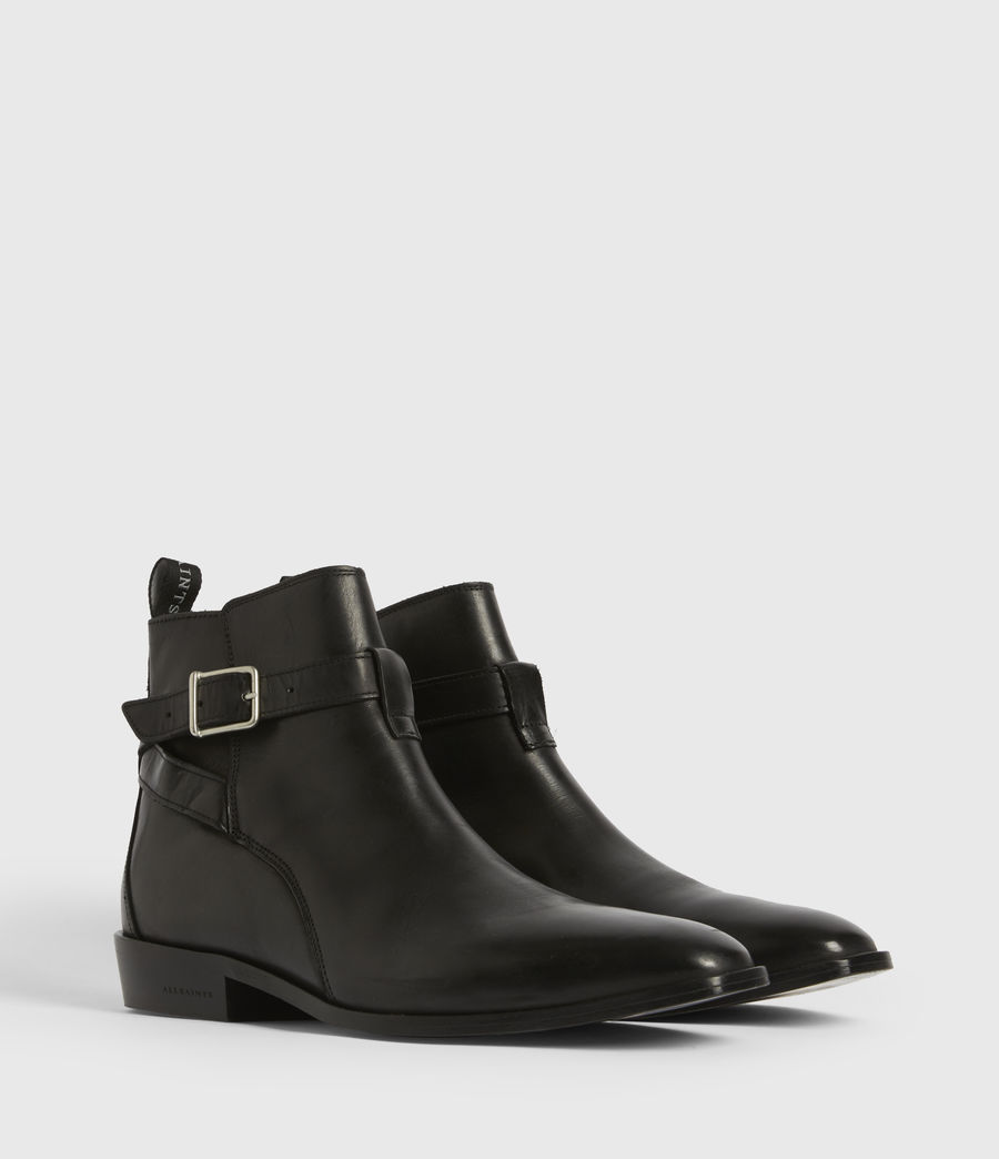 Men's Rodeo Leather Boots (black) - Image 3