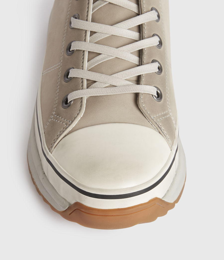 Mens Blakely High Top Leather Sneakers (chalk_white) - Image 2