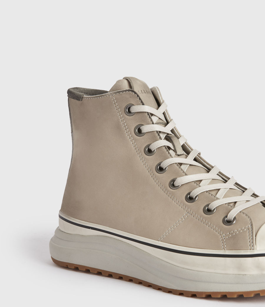 Mens Blakely High Top Leather Sneakers (chalk_white) - Image 3