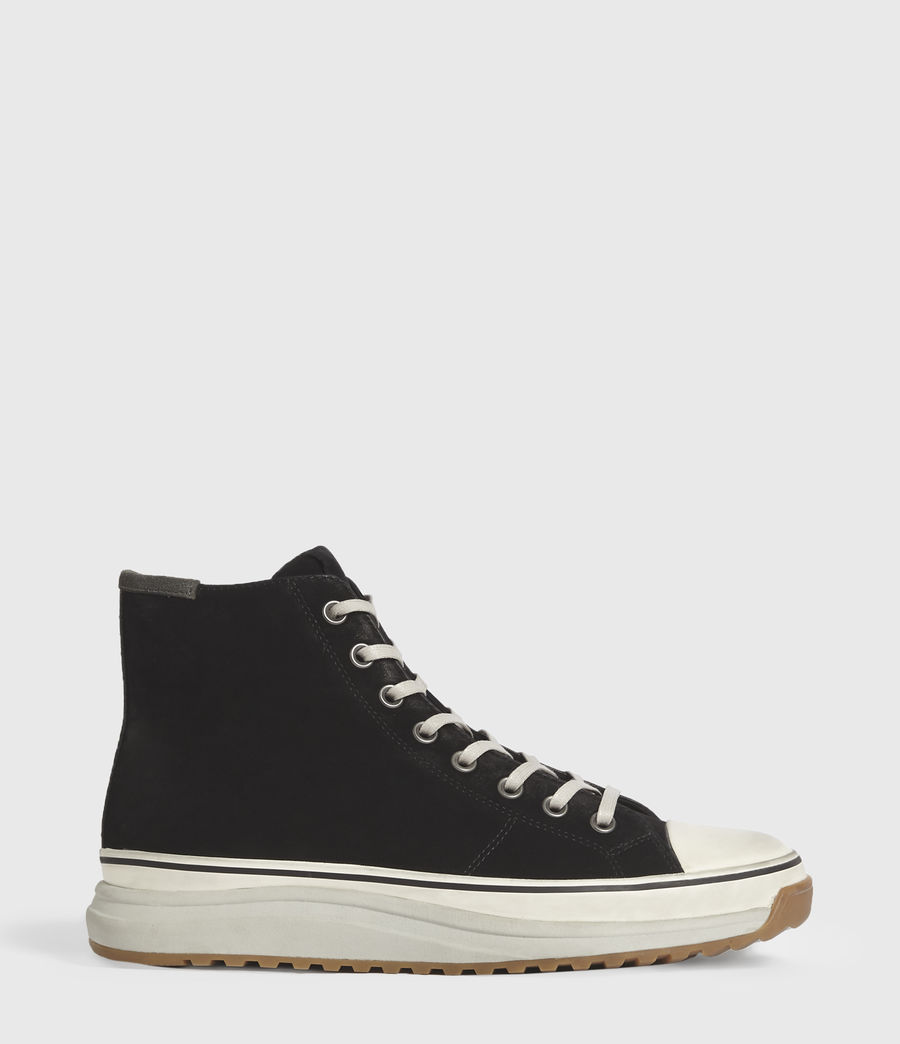 Men's Blakely High Top Leather Trainers (black) - Image 1