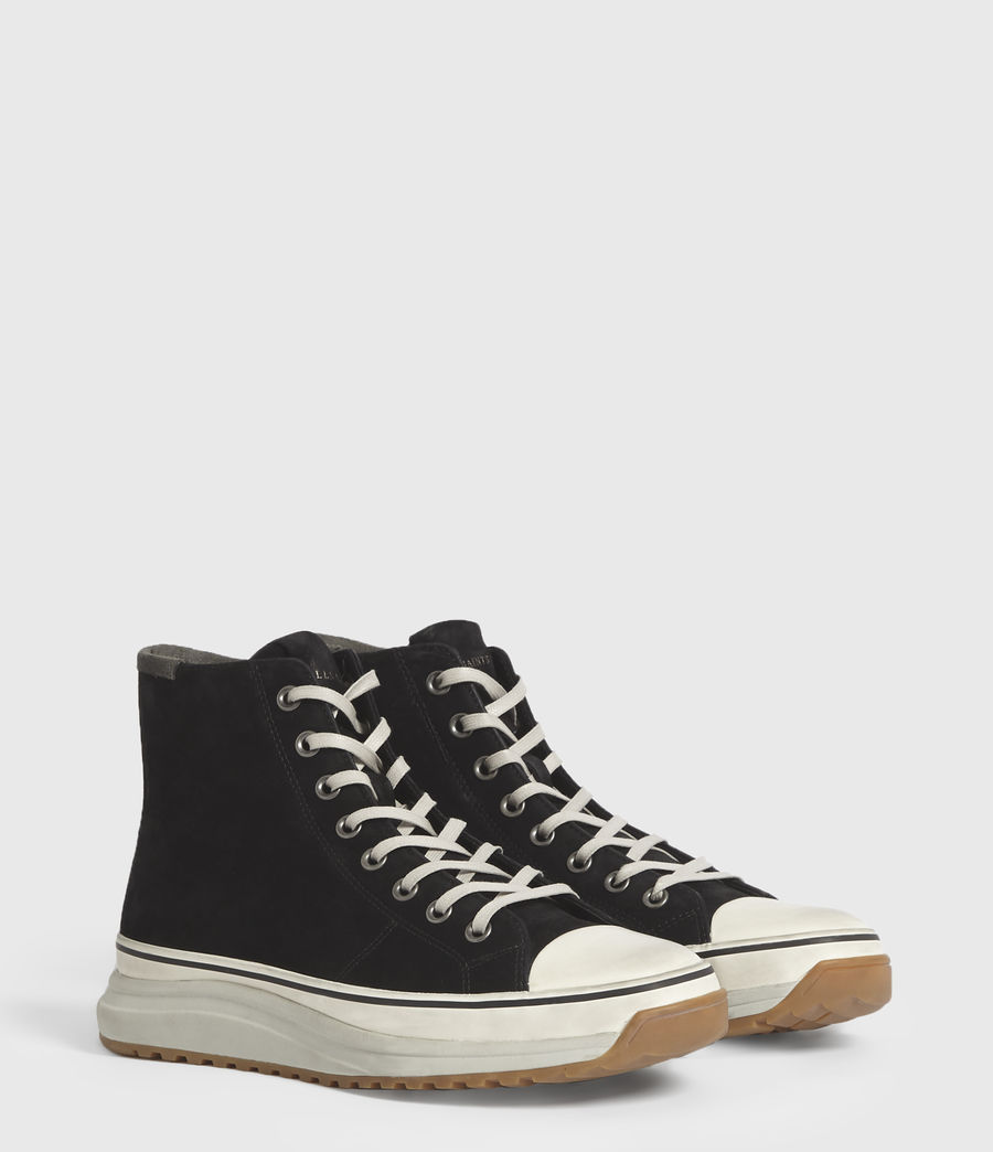 Men's Blakely High Top Leather Trainers (black) - Image 3