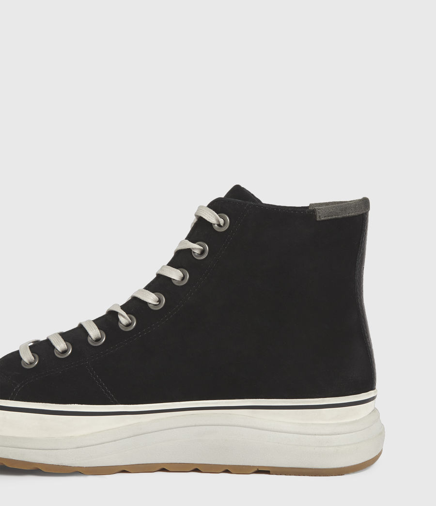 Men's Blakely High Top Leather Trainers (black) - Image 5