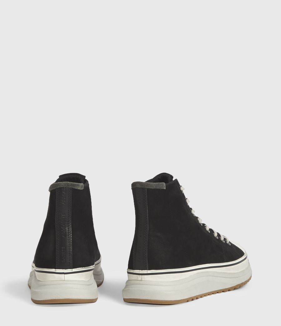 Men's Blakely High Top Leather Trainers (black) - Image 6