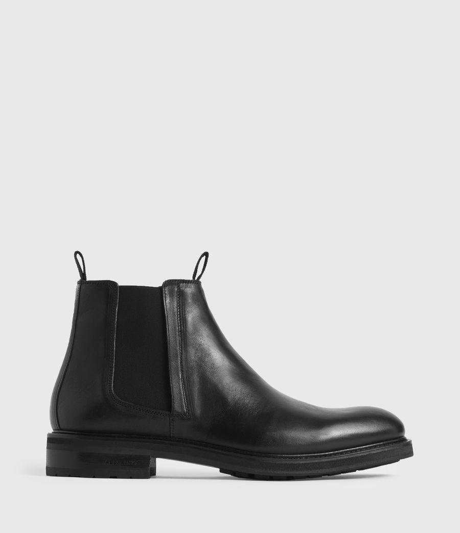 Hombres Botas de Piel Brendon (black) - Image 1