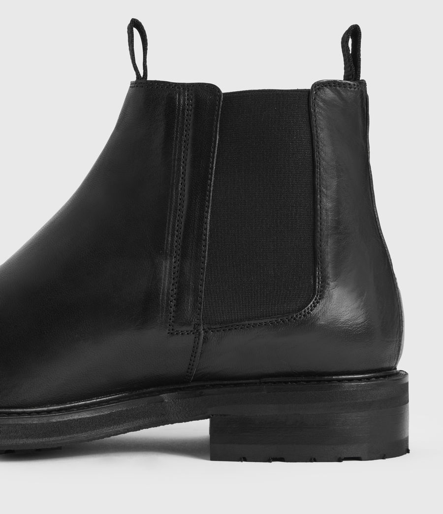 Mens Brendon Leather Boots (black) - Image 2