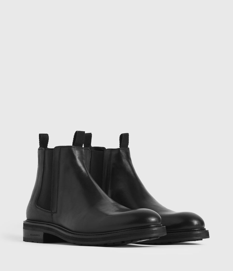 Mens Brendon Leather Boots (black) - Image 3