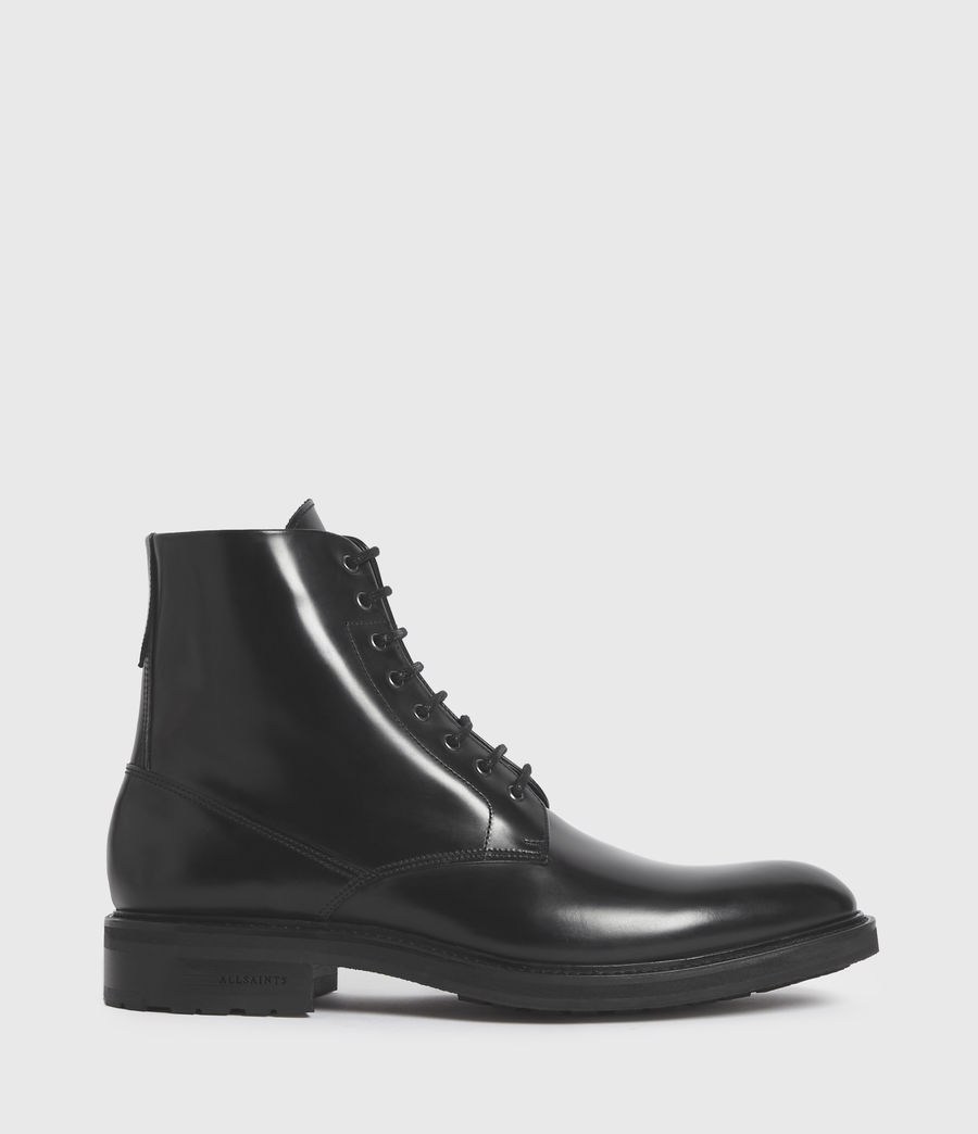 Mens Britt Leather Boots (black) - Image 1