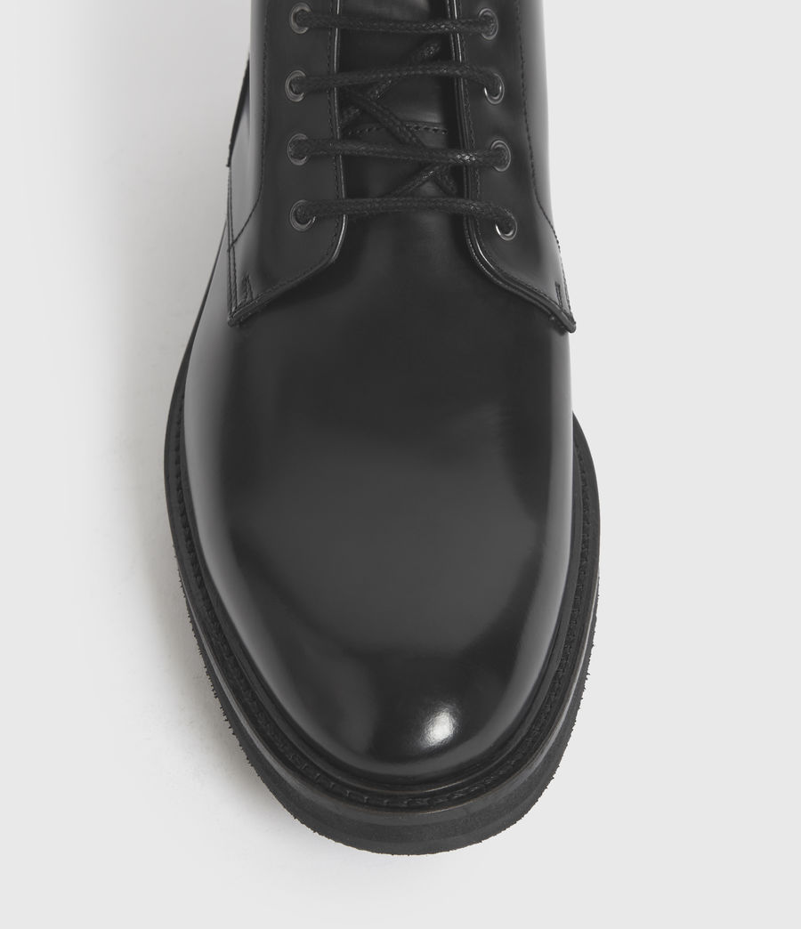 Mens Britt Leather Boots (black) - Image 2
