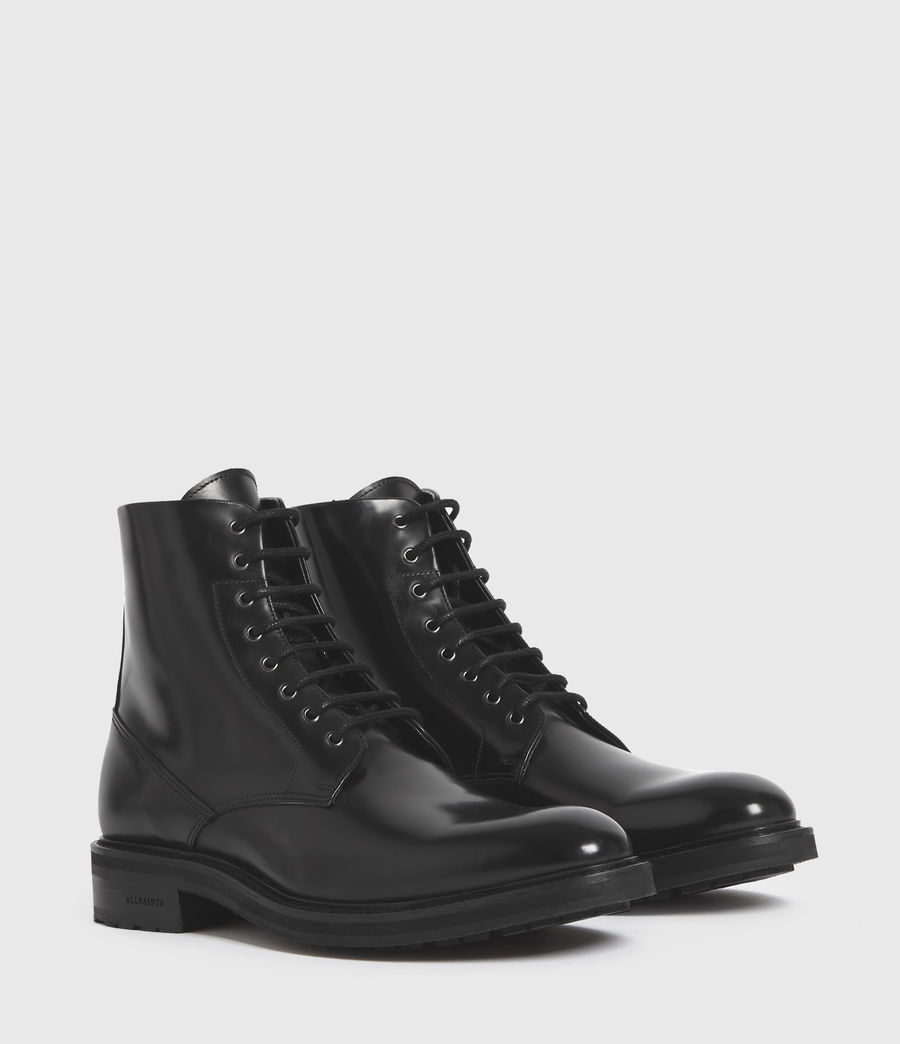 Mens Britt Leather Boots (black) - Image 3