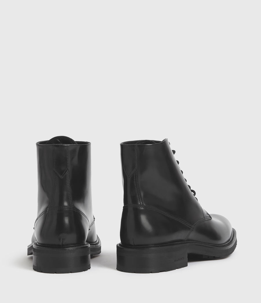 Mens Britt Leather Boots (black) - Image 6