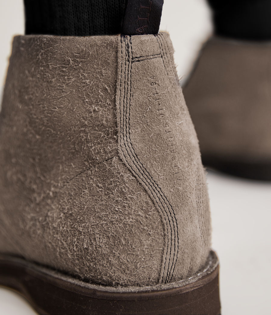 Men's Mathias Suede Boots (grey) - Image 4