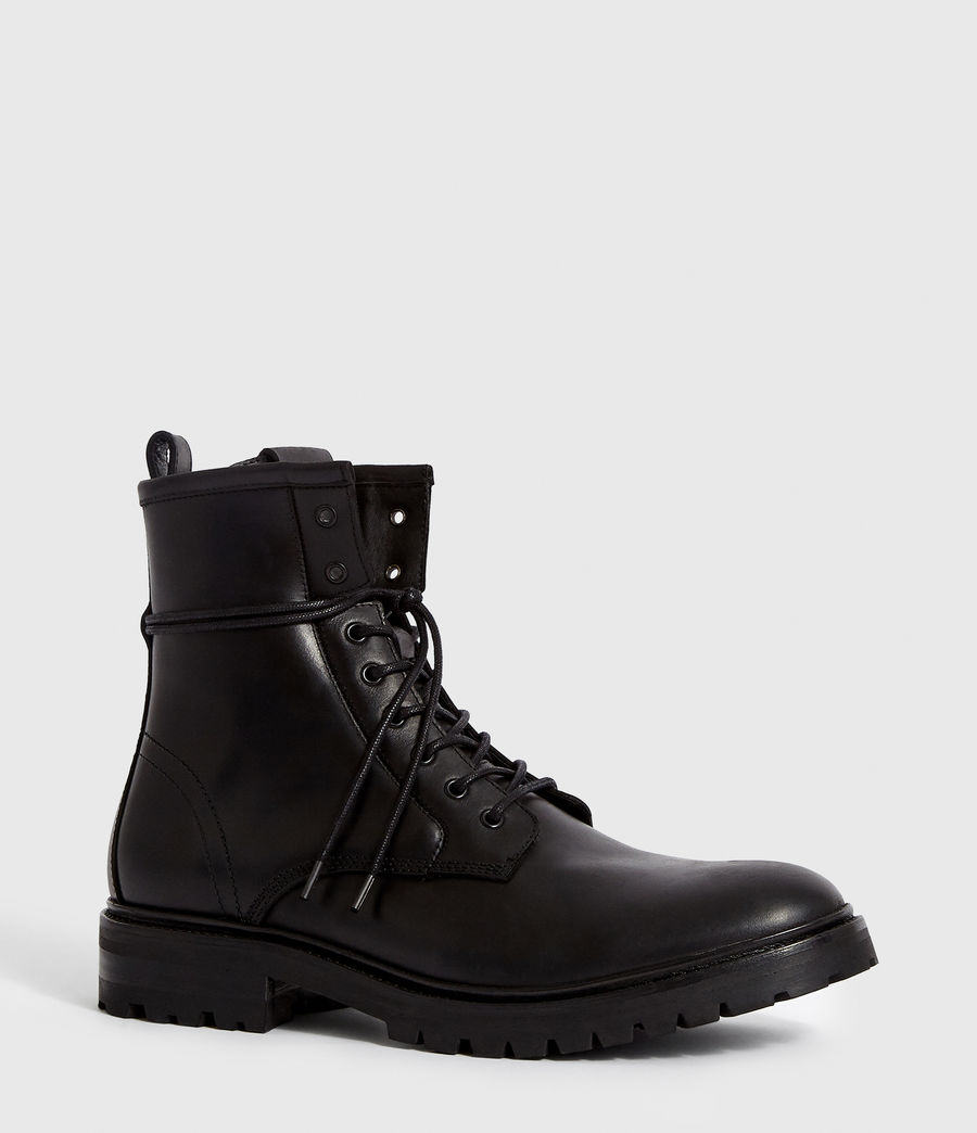 Men's Olin Leather Boots (black) - Image 3