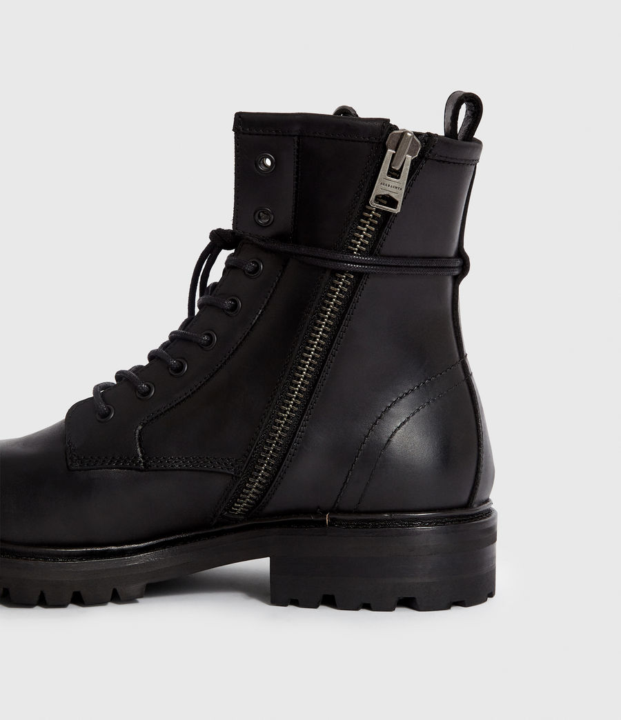 Men's Olin Leather Boots (black) - Image 4